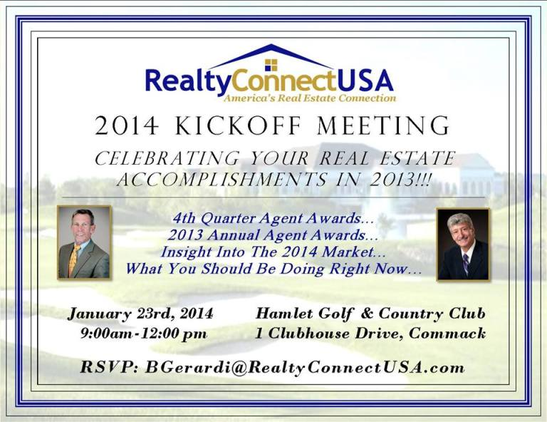 Realty Connect Corporate Kickoff Meeting