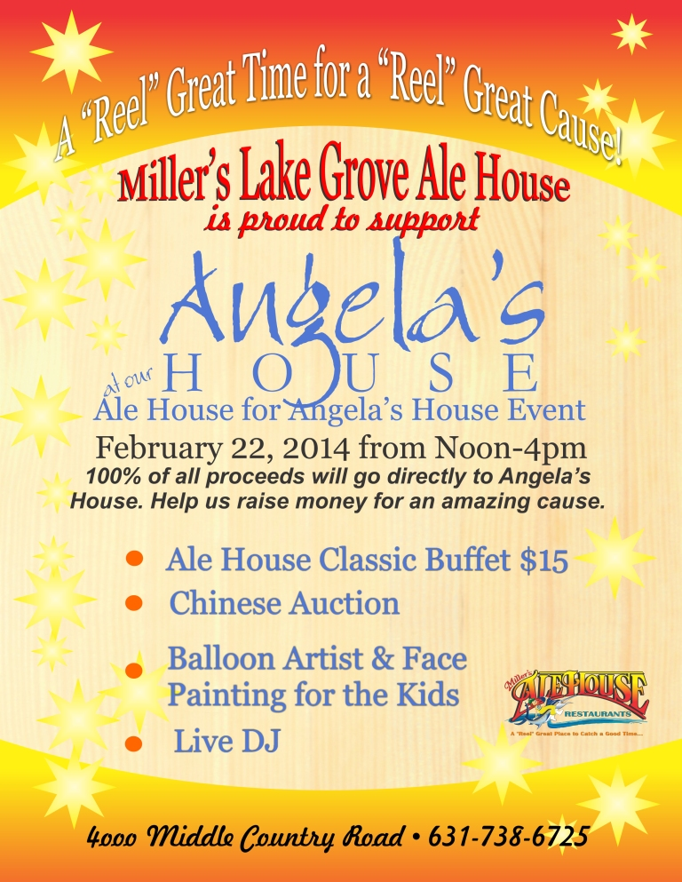 Support Angela's House at the Ale House