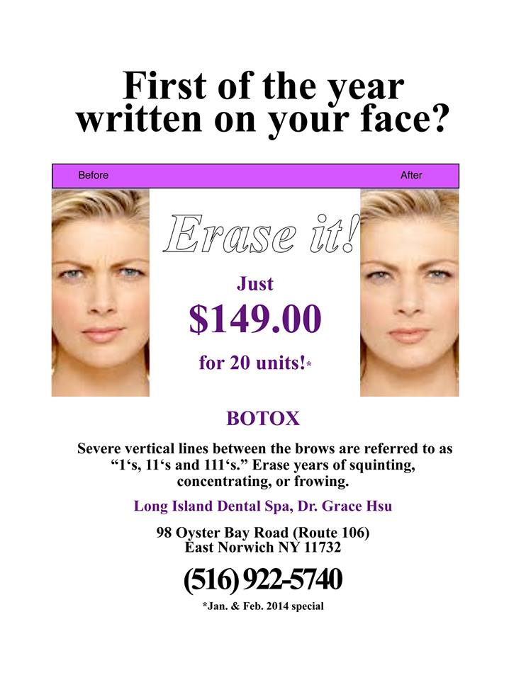 LI Dental Spa's February Botox Promotion