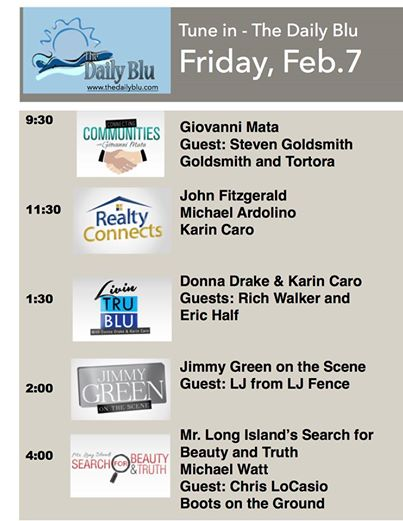 Feb 7th TheDailyBlu Show Lineup