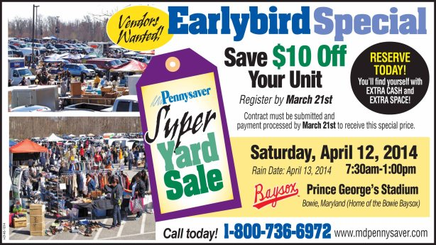 The Pennysaver Maryland Yard Sale Extravaganza!!!