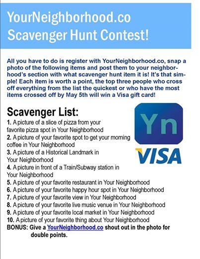 Your Neighborhood Scavenger Hunt