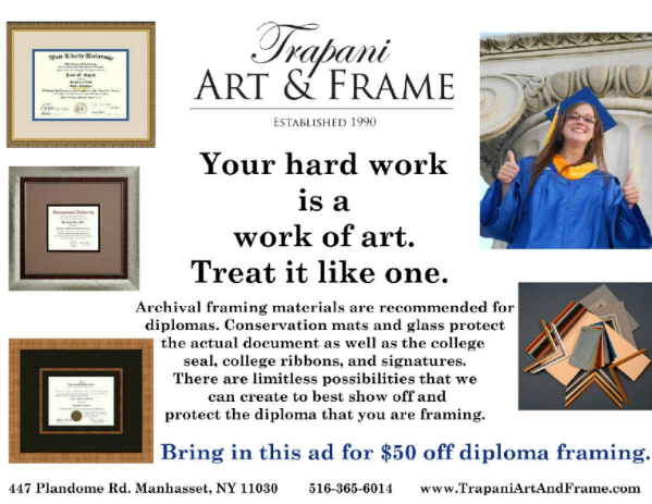 Protect your hard earned documents with Trapani Art & Frame!
