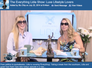 Lifestyle, fashion, women in business everything!  Check out this hilarious episode! http://thedailyblu.com/video/the-everything-lidia-show-luxe-lifestyle-lovers