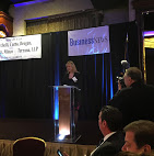 Karin Murphy Caro presented the awards for best in real estate on Long Island.